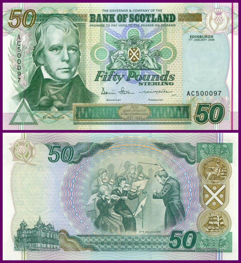 £50 2006 Bank of Scotland SC161d (UNC) AC 500097 - Low Serial Number