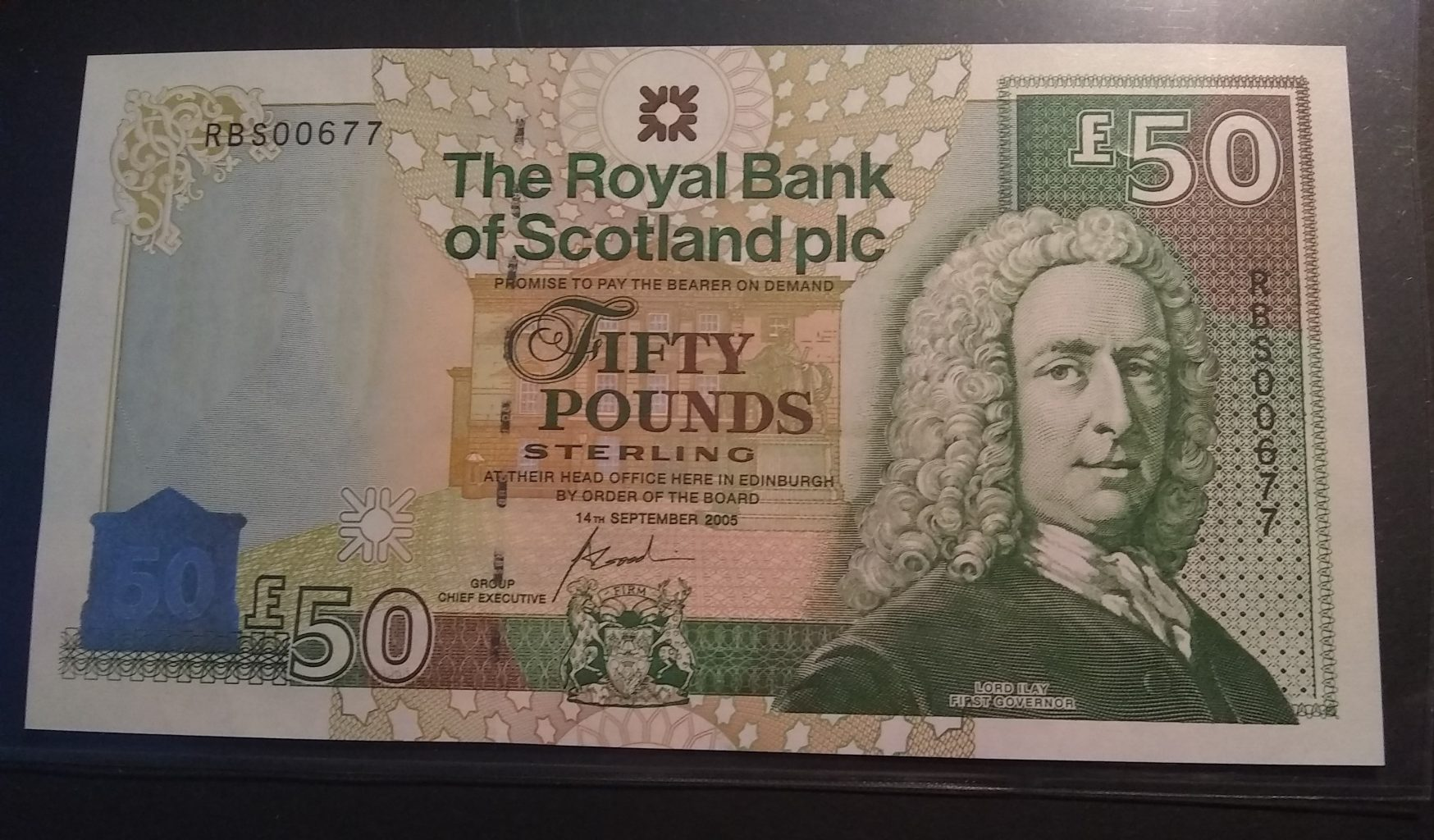 £50 Royal Bank of Scotland 'Gogarburn' 2005 (UNC) RBS00677 - Superb