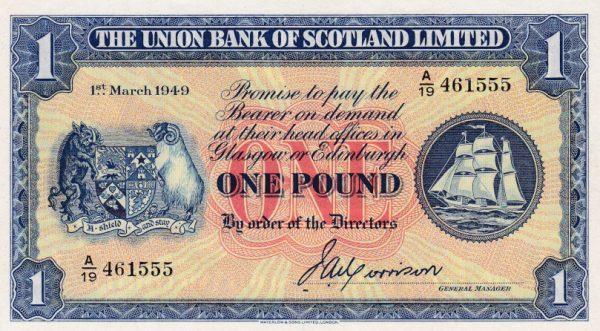 £1 Union Bank of Scotland