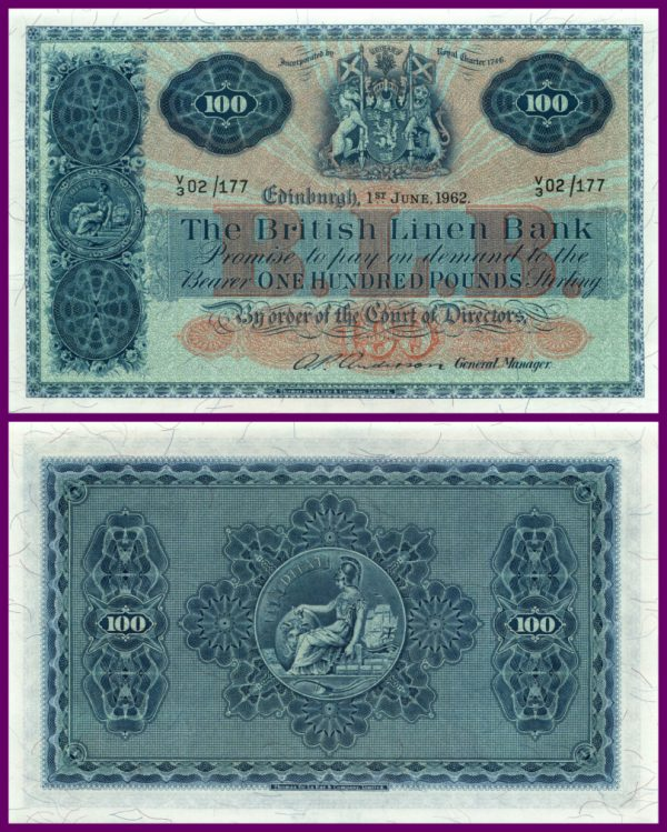 £100 British Linen Bank 1962