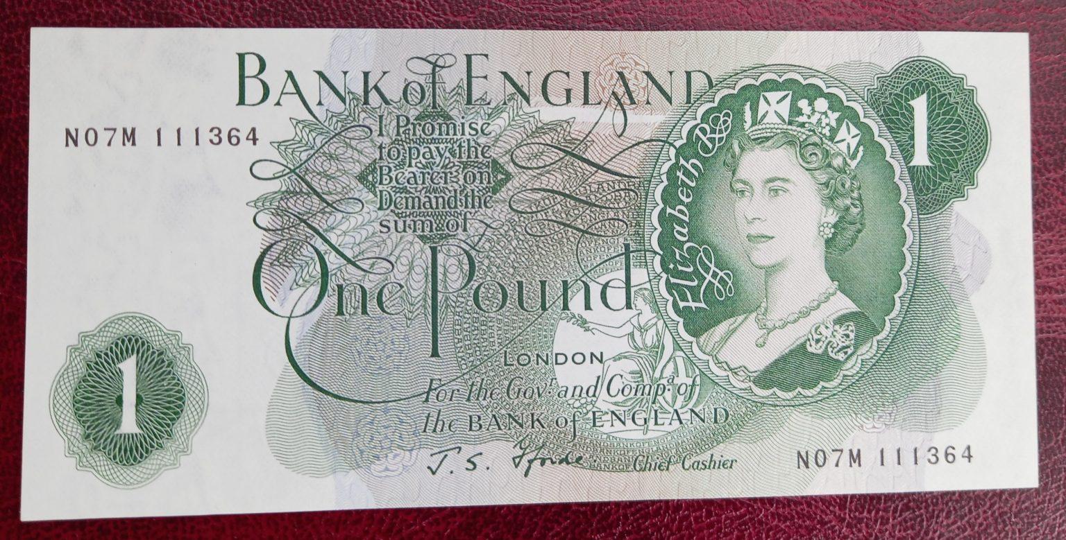 £1 Fforde B308 Replacement (AUNC) N07M 111364